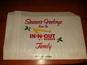 2019 In N Out Christmas Burger Wrapper - MINT