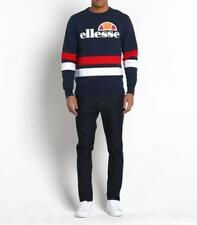 ELLESSE MENS PUCCINI SWEATSHIRT - NAVY RED WHITE - LARGE - RRP £55 - SALE *BNWT