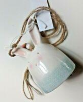Lapin clochette à suspendre Design en céramique blanche, neuf 🐰