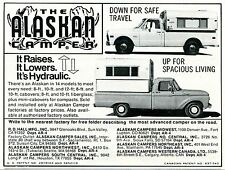 1973 small Print Ad of The Alaskan Camper safe travel spacious living