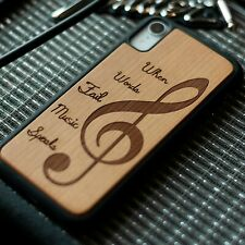 For Samsung Galaxy S10 Plus/S10/Note 10/10 +plus Wooden Phone Case Cover- Music