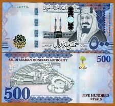 Saudi Arabia, 500 Riyals, 2016, P-New, Redesigned, King Abdulaziz, A-Prefix, UNC