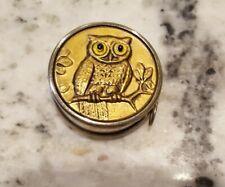 Vintage German Sewing Machine Tape Embossed Glass Eye Owl