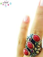 Turkish 925 Sterling Silver Jewelry Authentic Quartz Adjustable Size Ring R2002