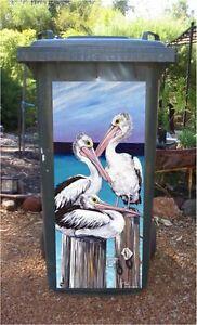 NEW Wheelie BIN Sticker Pelicans