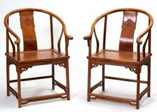 Pair Of Huanghuali Arm Chairs, 19Th - 20Th Century Lot 537