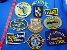 Police Highway Patrol Ranger Cloth Patch Random Misc Lot of 10 -Free US Shipping