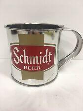 Schmidt Beer Vintage Aluminum Tin Beer Cups Mugs