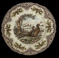 2 Pheasant Plates Victorian English Pottery Edward Challinor Thanksgiving 11""