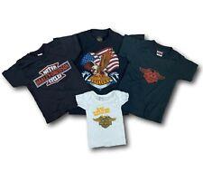 Lot of 4 Vintage Harley Davidson 3D Emblem Graphic Logo Tee T-Shirt Sz S