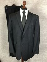 Marks and Spencer Mens Suit Size Blazer (44L) Trousers (W42L33) Navy Wool