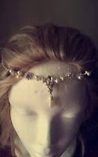 silver rhinestone pearl bridal headpiece / fascinator
