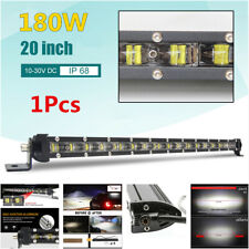 20inch 180W Slim Offroad SUV Truck 6D Spot Beam Single Row LED Work Light Bar