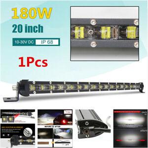 20inch 180W Slim Offroad SUV Truck 6D Spot Beam Single Row LED Work Light Bar