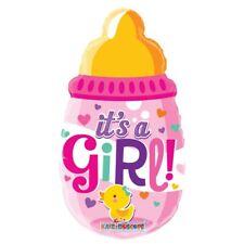 330255 Folienballon mit Helium gefüllt Babyflasche It/'s a Girl Baby Zur Geburt