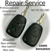 Renault Trafic Vauxhall Vivaro key fix Remote Fob Repair Refurbishment Service