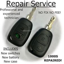 Vauxhall Vivaro 2 Button Remote Key Fob Repair Refurbishment Service Opel