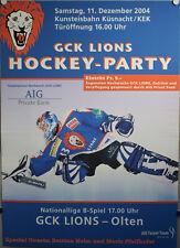 Hockey-Party - GCK Lions - Olten 2004