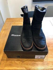 Dune Rhianne black ladies suede boots-6(39)