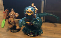 Wookiee Commando and BOGA with Obi-Wan Black Base-Star Wars Attacktix Series 1