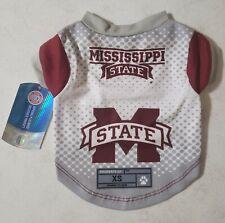 Ncaa Mississippi State Bulldogs Dog Jersey Sz. Xs