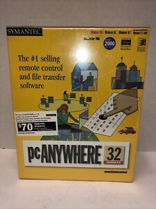 Symantec PCAnywhere 32 Version 8.0 Sealed Vintage New Old stock File Transfer