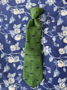 Baby Gap Vineyard Clip On Tie Whale Vines Green Blue Dye