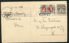 DENMARK 1912, 3ore + Christmas Seal tied on postcard, VF