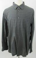 JOHN VARVATOS Star USA 100% Cotton Long Sleeve Shirt, XXL, Grey Plaid - MINT