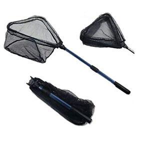 Fishing Net Telescoping Pole Handle Foldable Durable Silicone Triangular Mesh