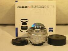 Mint w/Box Zeiss C Biogon T* 35mm F2.8 ZM Chrome Lens For Leica M Mount Cameras