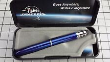 FISHER BULLET SPACE PEN BLUEBERRY BLUE NEW with STYLUS *ON SALE* BLACK INK