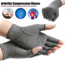 Anti-Arthritis Gloves Fingerless Compression Brace Support Hands Pain Relief