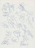 MALMO FF 1994-1995 SEASON ORIGINAL HAND SIGNED A4 SHEET X 18 SIGNATURES