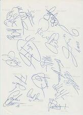 Malmo FF 1994-1995 saison original signé main feuille A4 x 18 signatures