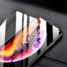 6D Edge to Edge Rounded Glass Front LED Cover  For Apple iPhone XS 10 Black
