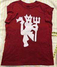USED Mens Red cristiano ronaldo manchester united T Shirt Sz Medium