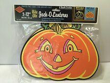 Beistle Pumpkins Nite Glo Jack O Lanterns Halloween Decorations Set of 3