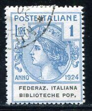 ITALIEN PORTOFREIHEIT 1924 37 gest 110€(A8232