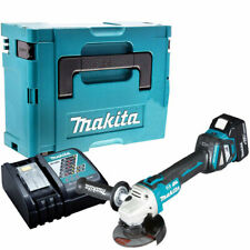Makita DGA513Z 18V Brushless Angle Grinder With 1 x 4.0Ah Battery Charger & Case