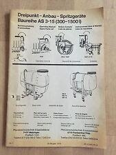 Betriebsanleitung Holder Dreipunkt-Anbau-Spritzgestänge AS 3-15