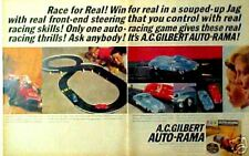 1964 A.C. Gilbert Auto-Rama Slot-Car Road Race Set Hobby 1/32 Scale Boys Toy AD