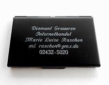 Visitenkartenetui Metall - für 20-25 Karten - mit Ihrer Diamant -Gravur OVP!