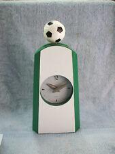 Clock swing sports soccer clock trophy personalized