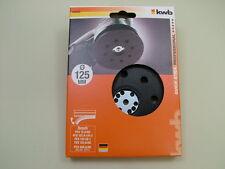 Backing pad hook & loop fit Bosch PEX12,125,400 125mm random orbit sander German