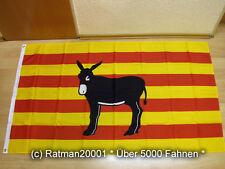 Fahnen Flagge Katalonien Spanien Esel - 90 x 150 cm
