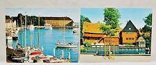 Lot of 2! Vintage 1980's Denmark Souvenir Postcards *Unused*