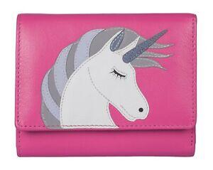 Mala Leather Unicorn Medium RFID Protected Purse genuine soft leather UNICORNS
