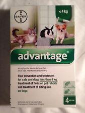 ADVANTAGE GREEN SMALL DOG, CAT, RABBITS 3- 10 pounds 2 TUBES