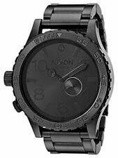 Nixon 51-30 Tide Black-Tone Dial Stainless Steel Quartz Mens Watch A057-001